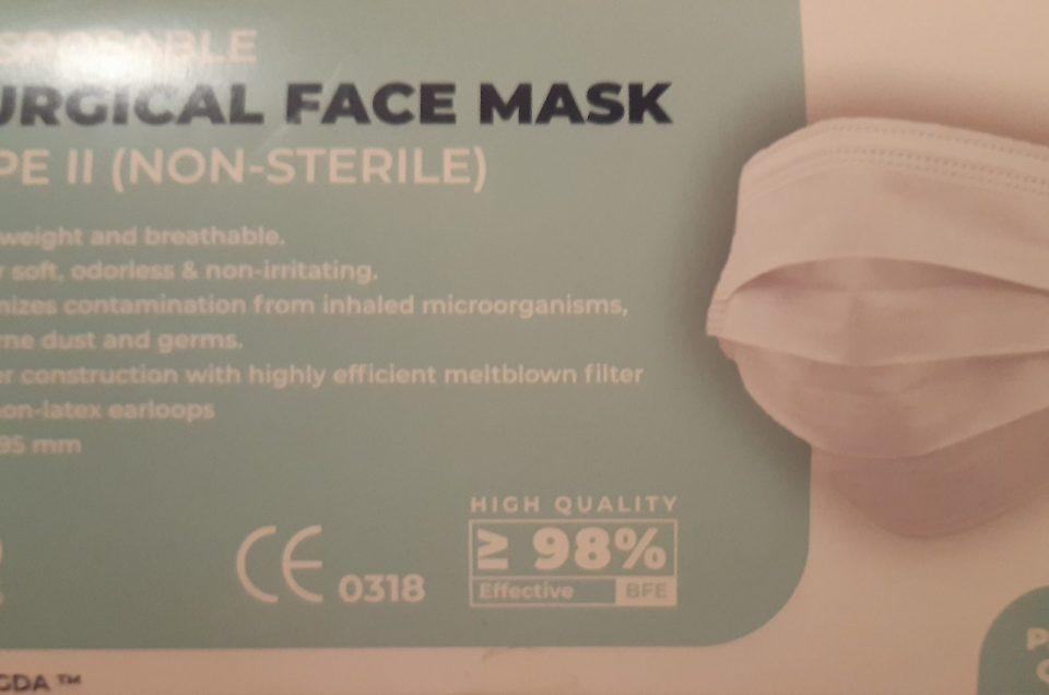 OP Masken in weiß vorrätig